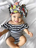 0-24M Baby Girl Striped Romper