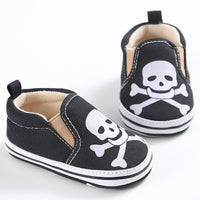 Baby Boy Girl SKULL  Canvas Casual Shoes 5 COLORS