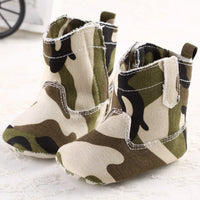 baby boy Camouflage booties