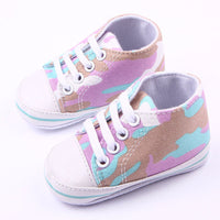 Baby Boy Girl Camouflage Soft Sole Sneakers Newborn To 12M