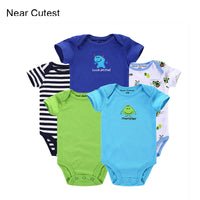 5pcs Baby Short Sleeve Cartoon Romper