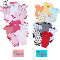 5 pcs Baby Rompers Short Sleeves
