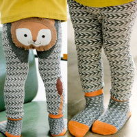 Cartoon Fox Lion Bird Rabbit Pattern Baby Girls Leggings 0-6Y