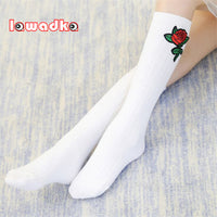 Rose Design Kid Socks for 2-8 Years
