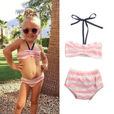 0-5Y Bowknot Baby Girl Bathing Suit
