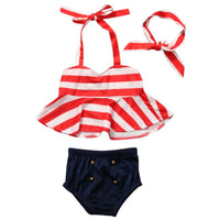 Baby Girls Stripe Swimsuit 0-4 Years