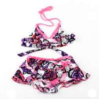 2-11 years butterfly girls swimwear