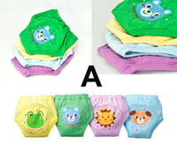 4 X Girls Cute 4 Layers Waterproof Potty Training Pants Reusable