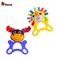 1pcs Eco-friendly Silicone baby Teether with Rattle