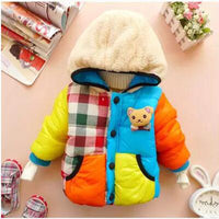 Baby Boys&Girls Thick Wadded Cartoon Bear Cotton-padded Coat