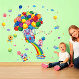 Colorful Rainbow Happy Balloon PVC Wall Stickers