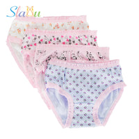 NEW 12 Pcs Girls Briefs Organic Cotton 2-10 y