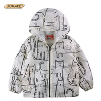 NEW Cartoon Cat Kids Jacket