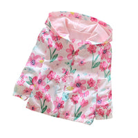 NEW Cute Girl Flower-print Hoodie Jacket 2-7Y