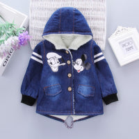 NEW Boys Mouse Denim Jacket 1-6T