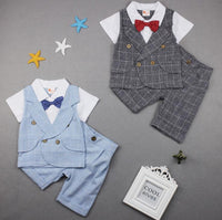 NEW Baby Boys Bowknot T-Shirt+ Shorts 2PCS