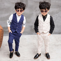 NEW Boys Formal Vest+Pants 2pcs 3-10Y