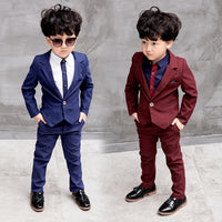 NEW Boys Blazer +Pants 2pcs 3-8Y