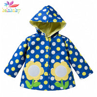 NEW Spring Waterproof Polka Dot Trench Coat