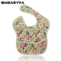 NEW Cartoon Striped Print Superbib Waterproof