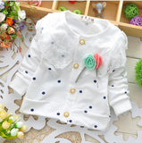 NEW 0-2 year long-sleeved cotton flower top