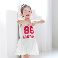 NEW MAY 22 Summer Girls 86 LONDON Preppy Style Cotton Dress 1-7Y