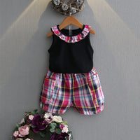 NEW MAY 22 Summer Plaid Girl Set