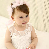 NEW MAY 22 Lovely Girls Ribbon Lace Flowers Headband