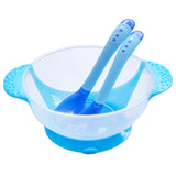 3Pcs Set Baby Learning Dishes With Suction Cup