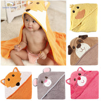 Animal Square Hooded Bath Towel