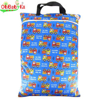 Waterproof Large Hanging Wet/Dry Bag With Cloth Diaper Inserts