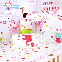 4-5-6pcs baby bedding set 100% combed cotton