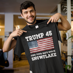 Donald Trump 45 Find Your Safe Space Snowflake