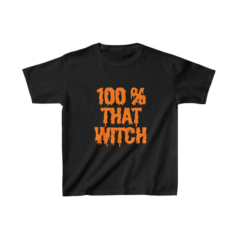 100% That Witch Girls T-Shirt - Halloween Tees - Trick Or Treat Shirts - Miss Deplorable