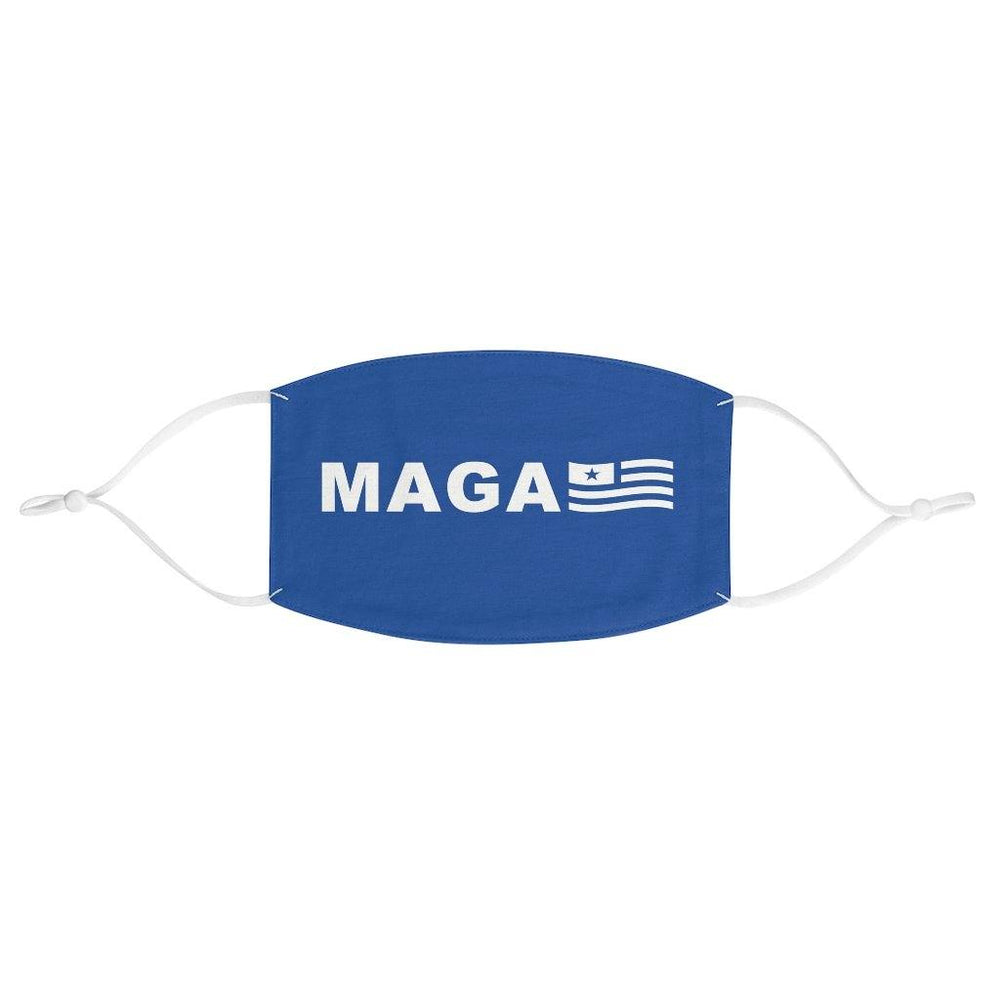 Trump Blue MAGA Flag Face Mask
