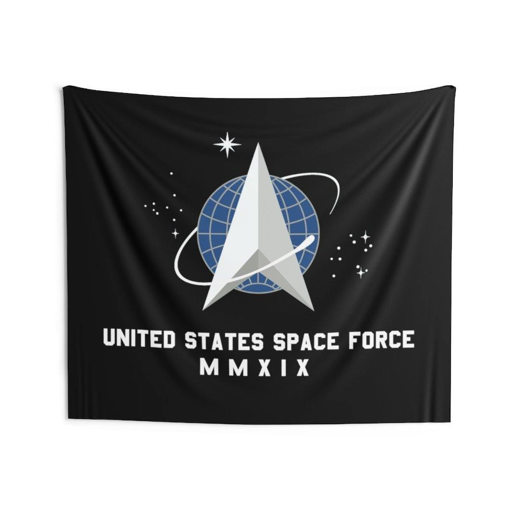 Space Force Flag United States Space Force Logo MMXIX Indoor Wall Tapestries