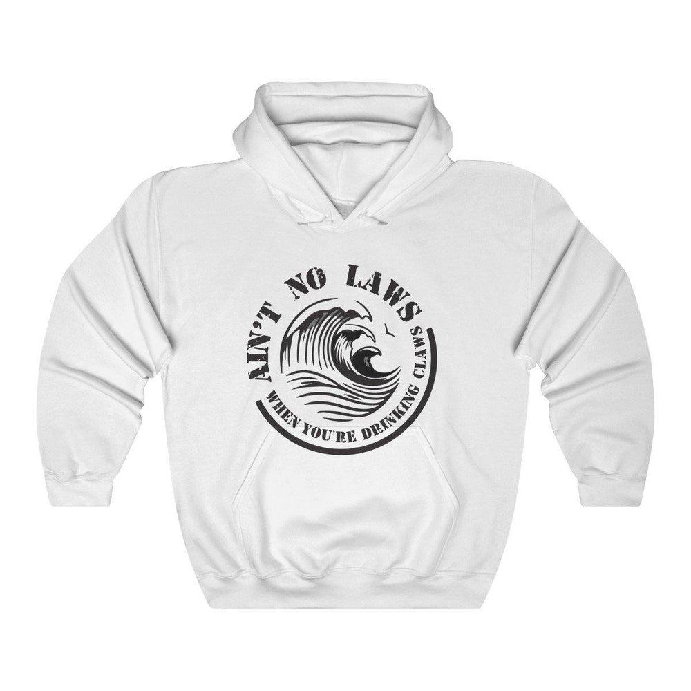 Aint No Laws When Your Drinking Claws Hoodie - White Claw Hooded Sweatshirt - Miss Deplorable