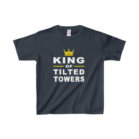 Fortnite Youth T Shirt - King Of Tilted Towers Boys Gaming T shirt - Miss Deplorable