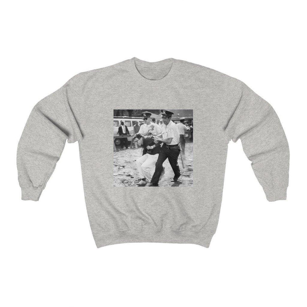 Bernie Sanders 1963 Arrest Photo Shirt - Bernie 2020 American President Crewneck Sweatshirt - Miss Deplorable