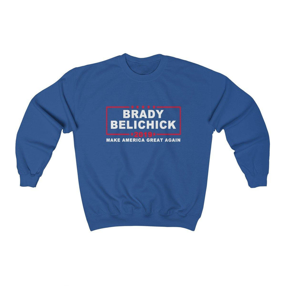 Brady Belichick 2019 Make America Great Again Crewneck Sweatshirt - Miss Deplorable