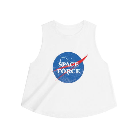 United States Space Force Vintage Women's Crop Top - Miss Deplorable