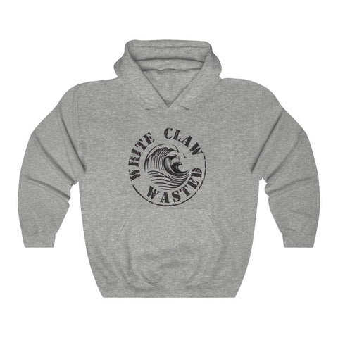 White Claw Wasted Hoodie - White Claw Hooded Sweatshirts - Miss Deplorable