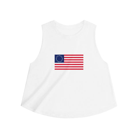 Betsy Ross American Flag Women's Crop Top - Miss Deplorable