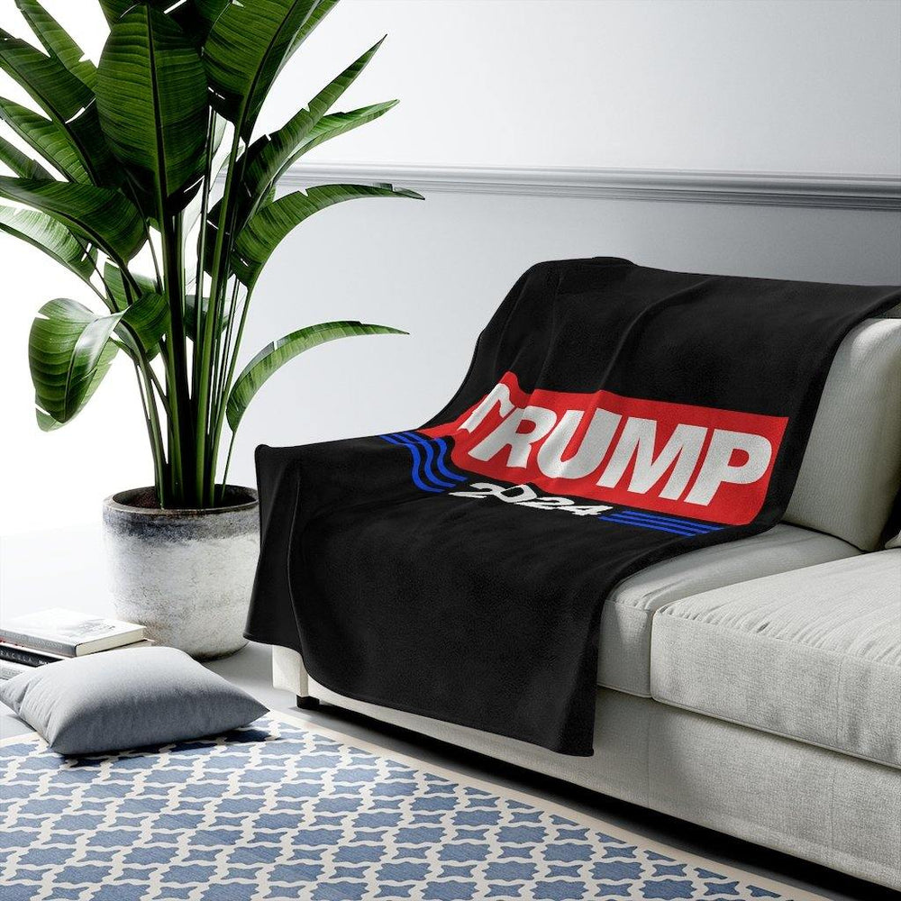 Donald Trump 2024 Velveteen Plush Blanket