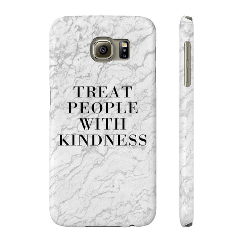 Treat People With Kindness Phone Case - Kindness Marble Phone Case - Apple - Samsung - LG - Miss Deplorable