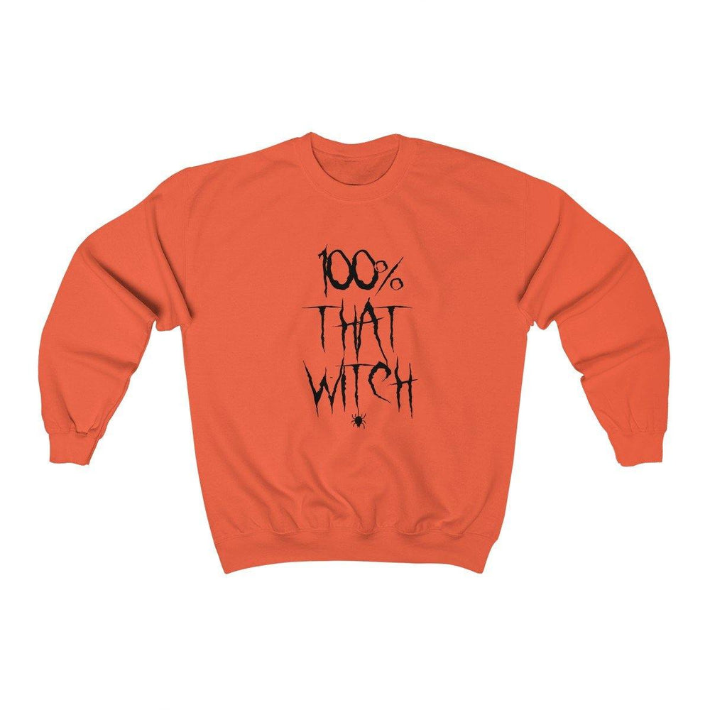 100% That Bitch Womens Sweatshirt - Halloween Sweater - Scary Halloween Shirt - Miss Deplorable