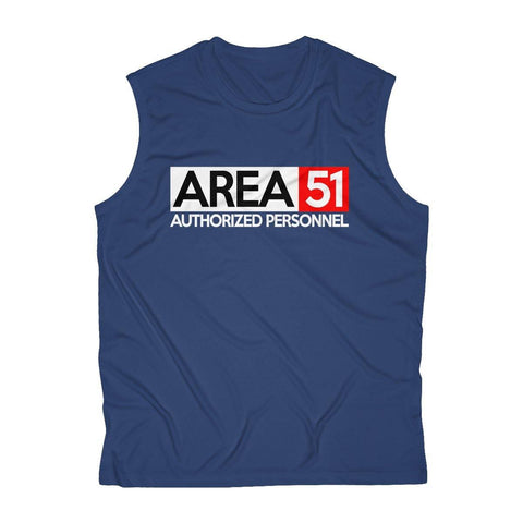 Area 51 Shirt - Storm Area 51 - Men's Sleeveless Performance Tee - Area 51 Authorized Personnel - Miss Deplorable