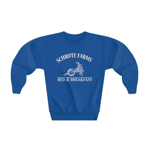 Schrute Farms Youth Crewneck Sweatshirt - Beets Bed And Breakfast Kids Sweater - Miss Deplorable