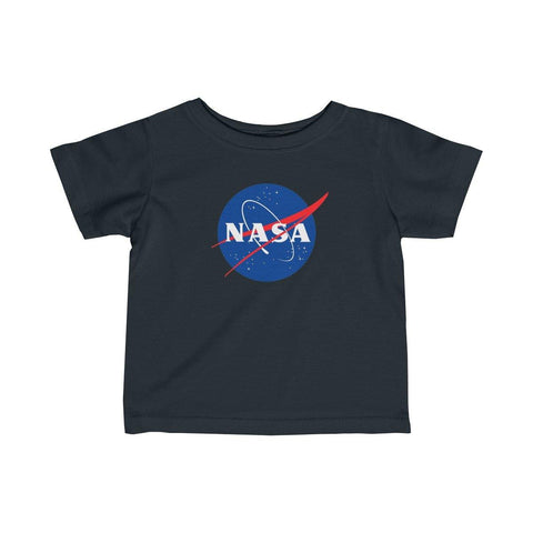 NASA Logo Infant Fine Jersey Shirt - Space Tees - NASA Space Distressed Infants T-Shirts - KIds Tees - Girls NASA Shirt - Boys Space T-Shirt - Miss Deplorable