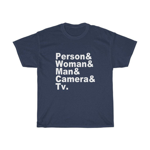 Person Woman Man Camera TV Shirt Trump Name T-Shirt for $25.00 at Miss Deplorable